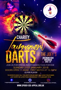 Charity Darts Tournament Flyer
