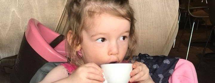 Edie Drinking Tea