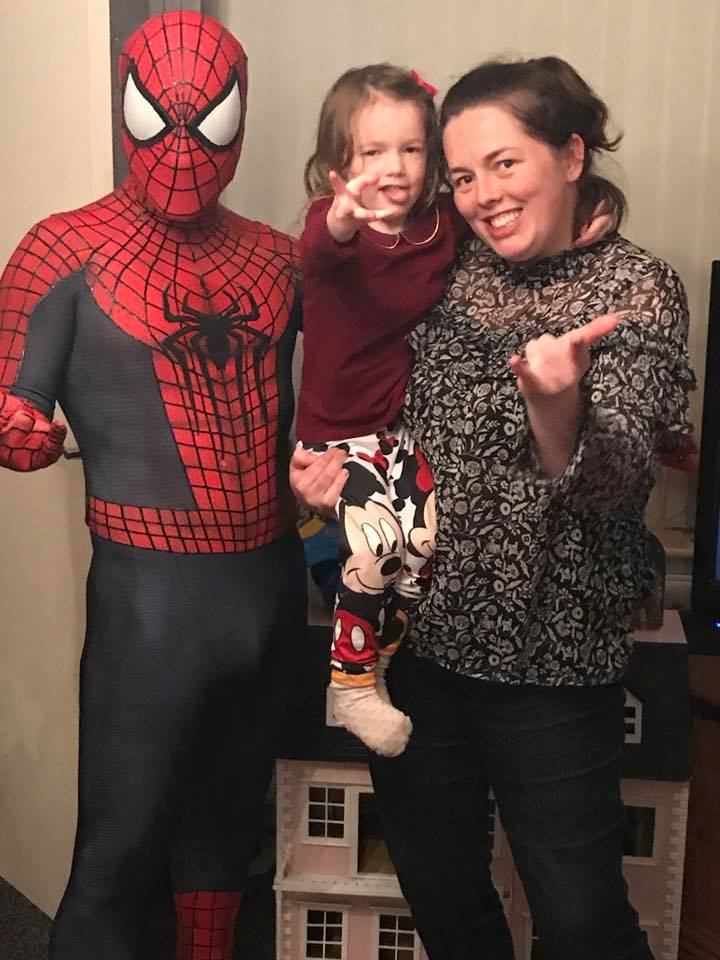 Spider-Man with Edie and Ashleigh