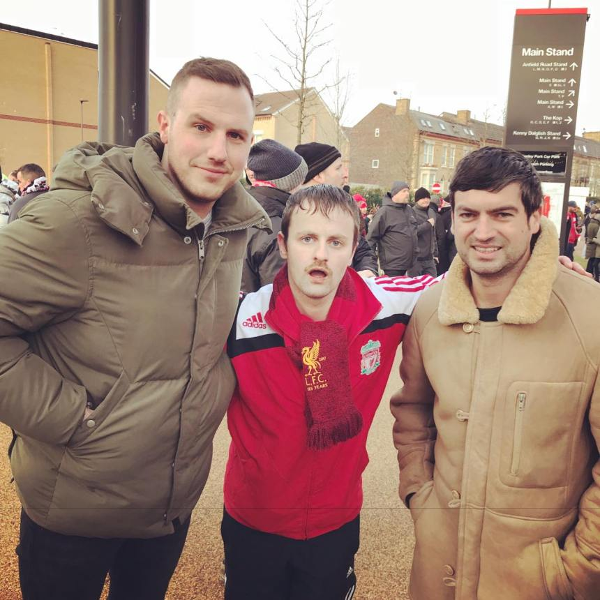 Richy Sheehy, Marc Kenny and Friend at Anfield Stadium