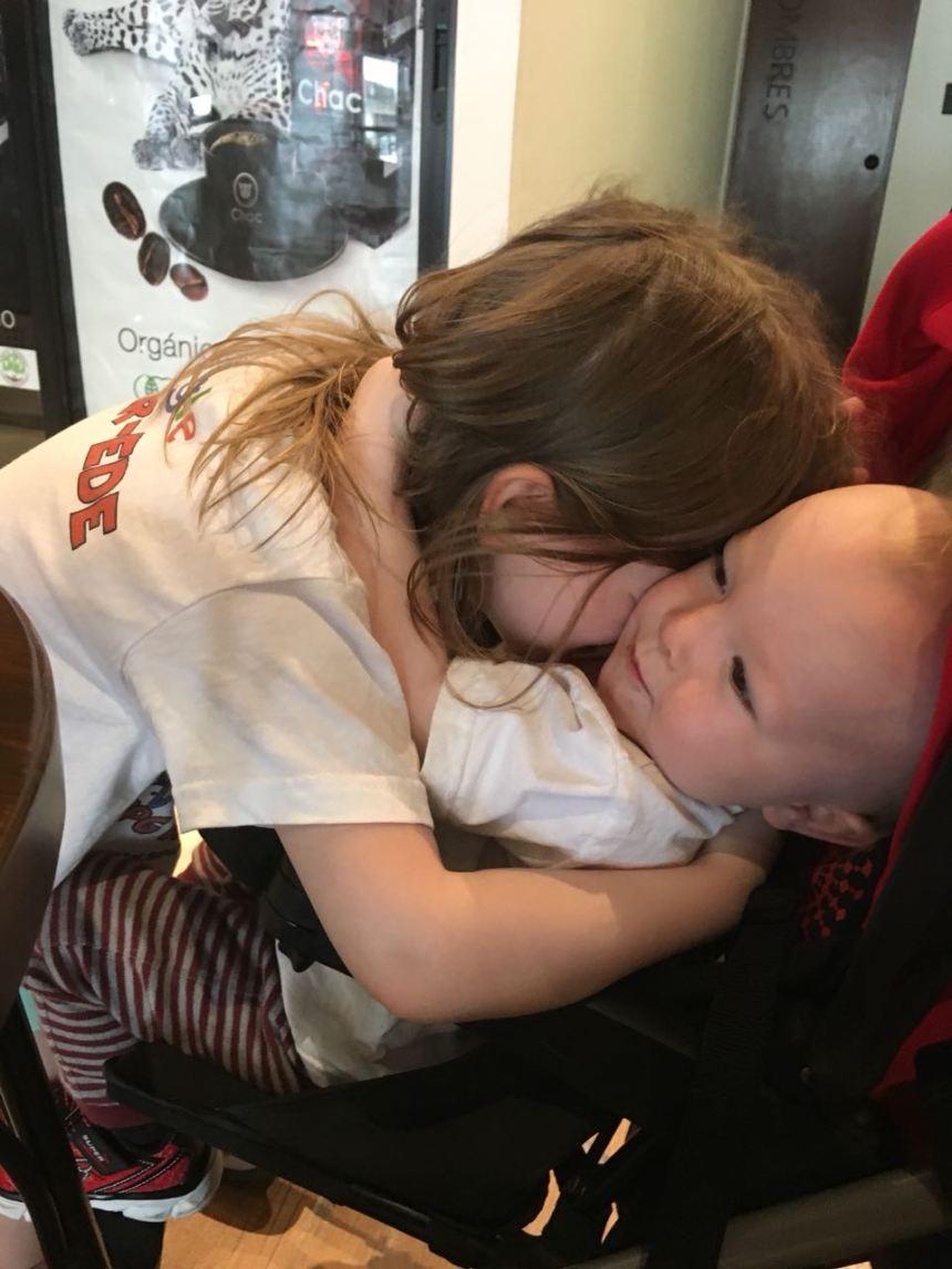 Edie and Len Cuddling