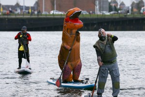 T-Rex Messing About on the Water