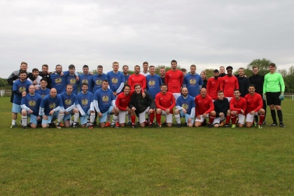 Edie's Football team plus some of the Hollyoaks cast, crew and friends.