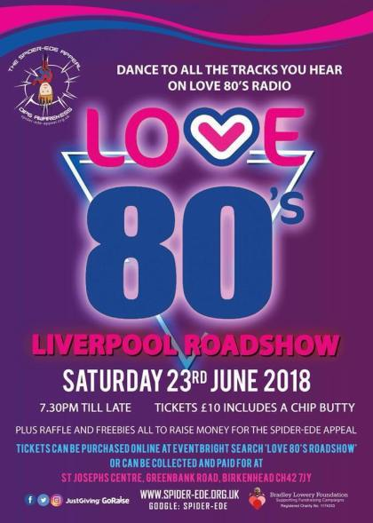 Love 80s Liverpool Roadshow Event Poster