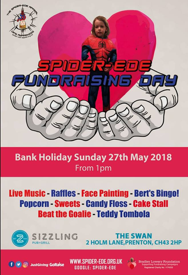 Spider-Ede Fundraising Day at The Swan (Poster)