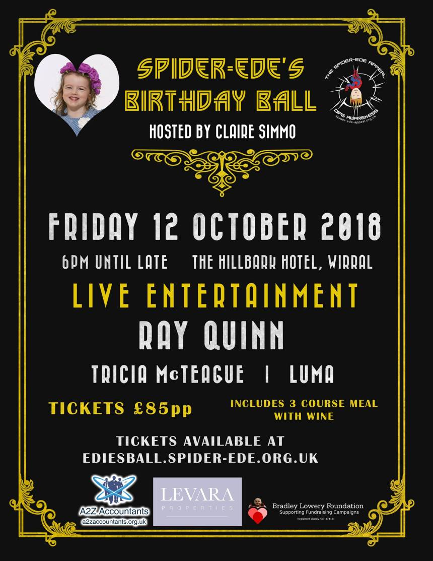 Spider-Ede's Birthday Ball - Friday 12 October 2018