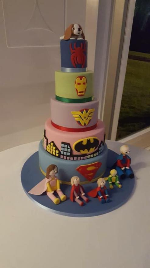 Edie's Superhero Birthday Cake