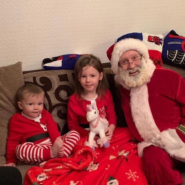 Niamh and Lenny with Santa